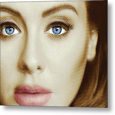 Adele Painting Circle Pattern 1 Metal Print by Tony Rubino