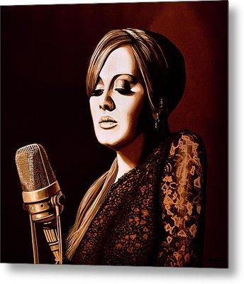 Adele Skyfall Gold Metal Print by Paul Meijering