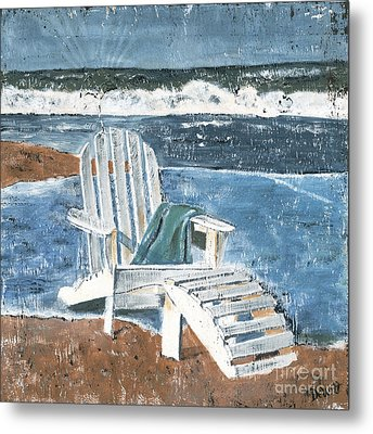 Adirondack Chair Metal Print by Debbie DeWitt