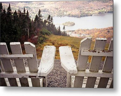 Adirondack Chair On Mountain Top Metal Print by Angela Auclair