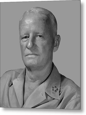 Admiral Chester Nimitz Metal Print by War Is Hell Store