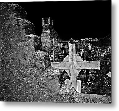 Adobe And The Cross Metal Print by Dennis Sullivan