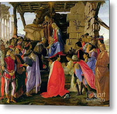 Adoration Of The Magi Metal Print by Sandro Botticelli
