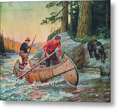 Adventures On The Nipigon Metal Print by JQ Licensing