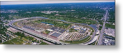 Aerial View Of A Racetrack Metal Print by Panoramic Images