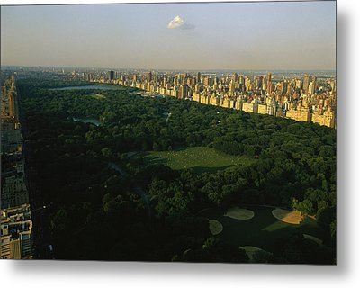 Aerial View Of Central Park, An Oasis Metal Print by Melissa Farlow