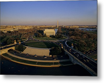 Aerial View Of Lincoln Memorial Metal Print by Kenneth Garrett