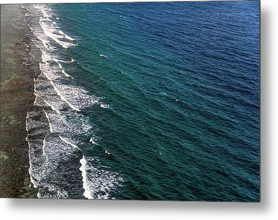 Aerial View To Ocean Surf. Maldives Metal Print by Jenny Rainbow