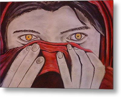 Afghan Girl Metal Print by Colin O neill