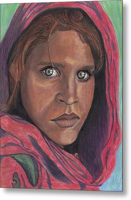 Afghan Girl Metal Print by Jean Haynes
