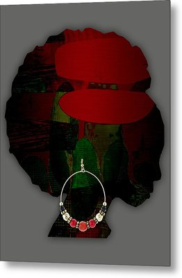 African Beauty Metal Print by Marvin Blaine