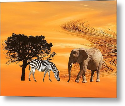 African Safari Metal Print by Sharon Lisa Clarke