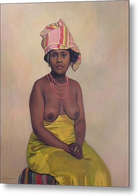 African Woman Metal Print by Felix Edouard Vallotton