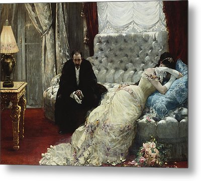 After The Ball Metal Print by Henri Gervex