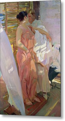 After The Bath Metal Print by Joaquin Sorolla y Bastida