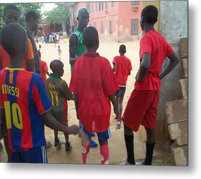 After The Game - Goree Boys Metal Print by Eugene Simon