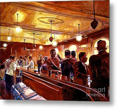After The Market Closes Metal Print by David Lloyd Glover