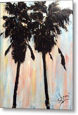 Afternoon Palms Metal Print by Sherri Wimberly