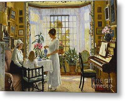 Afternoon Tea Metal Print by Paul Fischer