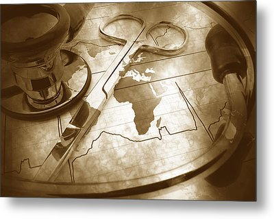 Aged Medical Tools Metal Print by Phill Petrovic