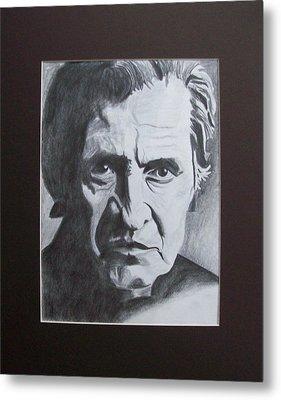 Aging Johnny Cash Metal Print by Mikayla Ziegler