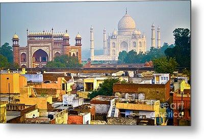 Agra Rooftop Metal Print by Derek Selander