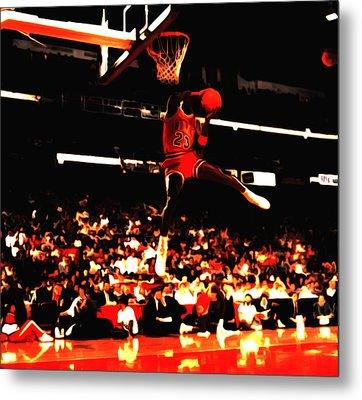 Air Jordan 1988 Slam Dunk Contest 8c Metal Print by Brian Reaves