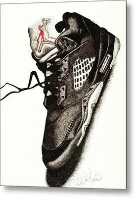 Air Jordan Metal Print by Robert Morin