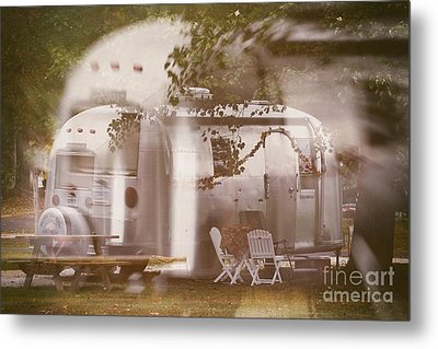 Airstream Double Metal Print by Susan Grube