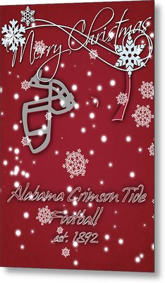 Alabama Crimson Tide Christmas Card 2 Metal Print by Joe Hamilton