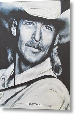 Alan Jackson - In The Real World Metal Print by Eric Dee