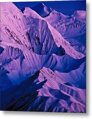 Alaska Range Twilight Metal Print by Tim Rayburn