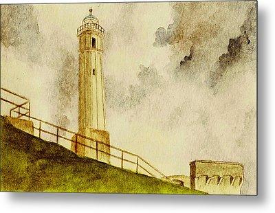 Alcatraz Island Lighthouse Metal Print by Michael Vigliotti