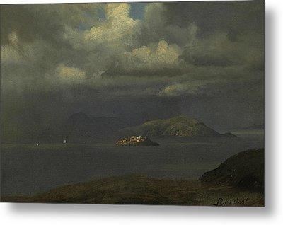 Alcatraz, San Francisco Bay Metal Print by Albert Bierstadt