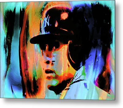 Alex Rodriguez 02c Metal Print by Brian Reaves