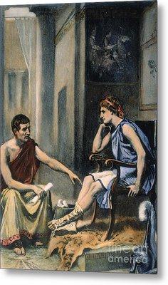 Alexander & Aristotle Metal Print by Granger