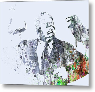 Alfred Hitchcock Birds Metal Print by Naxart Studio