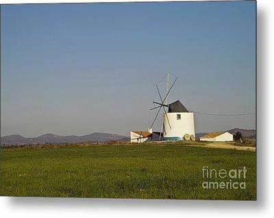 Algarve Windmill Metal Print by Heiko Koehrer-Wagner