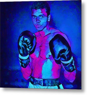 Ali Graphic Abstract Metal Print by Dan Sproul