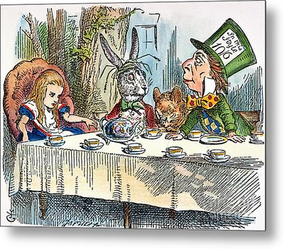 Alices Mad-tea Party, 1865 Metal Print by Granger