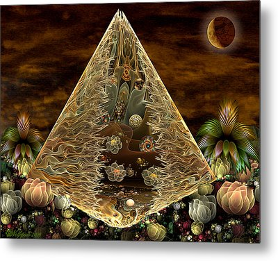 Alien Pyramid Metal Print by Peggi Wolfe