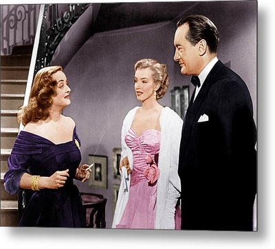 All About Eve, From Left Bette Davis Metal Print by Everett