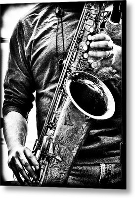 All Blues Man With Jazz On The Side Metal Print by Bob Orsillo