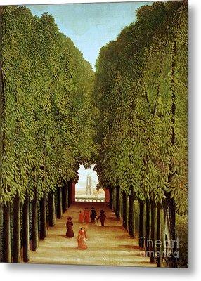 Alleyway In The Park Metal Print by Henri Rousseau