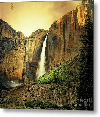 Almost Heaven 7d6129 V2 Square Metal Print by Wingsdomain Art and Photography