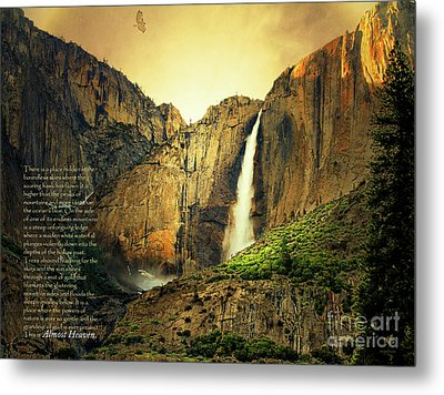 Almost Heaven 7d6129 V2 With Text Metal Print by Wingsdomain Art and Photography