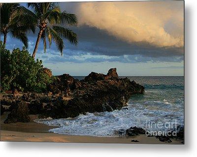 Aloha Naau Sunset Paako Beach Honuaula Makena Maui Hawaii Metal Print by Sharon Mau