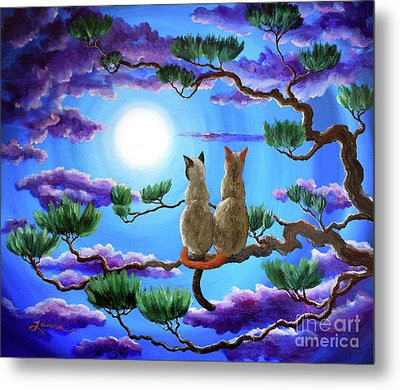 Alone In The Treetops Metal Print by Laura Iverson