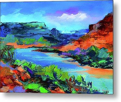 Along Colorado River - Utah Metal Print by Elise Palmigiani