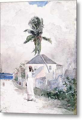 Along The Road   Bahamas 1885 Metal Print by Winslow Homer